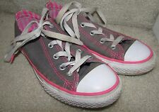 Converse CTAS Double Tongue Girls Sneakers Size Junior 2 Pink/Gray 650832F