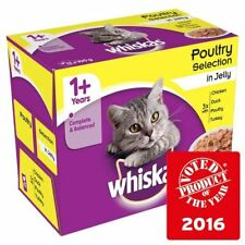 Whiskas 1+ Cat Pouches Poultry in Jelly 12 x 100g