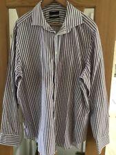 Jasper Conran white striped shirt, collar size 18