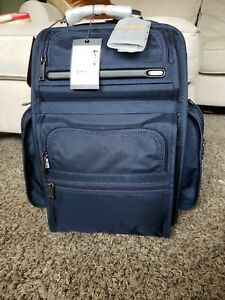 TUMI Alpha T-Pass Business Class Brief Pack Backpack Navy Blue MSRP $495
