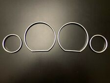 SPEEDOMETER DIAL GAUGE RINGS BEZEL MATT CHROME FOR BMW 3 SERIES E36 1990-2000