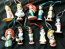Disney Young Princess Animator Christmas Ornament set of 11 Ariel Belle Merida