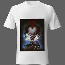 Mens t-shirt Movie Music IT pennywise Clown Alien Horror Thriller S M L XL 2XL