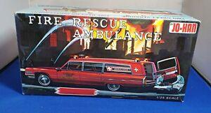 Model Clearance: Rare Jo-Han Fire Rescue Ambulance 1/25th. Perfect, complete