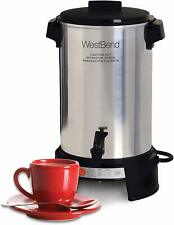 West Bend Aluminum 36 Cup Commercial Coffee Urn Auto Temp Control Quick Brewing