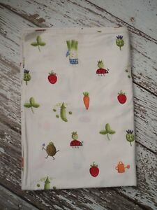 IKEA Torva Gronsak Duvet Cover Vegetables Ladybugs Garden Cotton Twin Size EUC