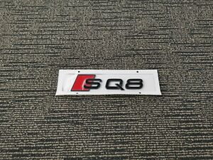 Gloss Black Audi SQ8 Emblem Badge OEM Style Size Rear Logo Replacement Decal