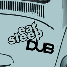 VW VOLKSWAGEN Divertido Pegatinas de vinilo coche furgoneta Escarabajo Camper Comer Dormir Dub Golf