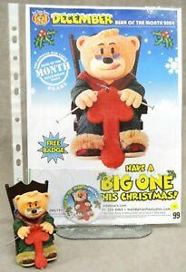 ORIGINAL BAD TASTE BEAR FIGURE, POSTER & BADGE FOR DEC 2004 - PEARL - NO 99.