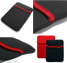 "Negro Rojo Suave Funda de neopreno para 7.8"" Apple iPad Mini/7"" Tablet PC Samsung"