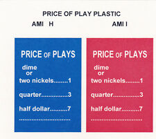 2   JUKEBOX  AMI I  AMI H  PRICE OF PLAY PLASTIC