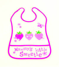 New Baby Toddler Kids EVA Easy Wipe Bibs Waterproof strawberry