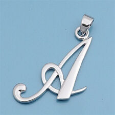 Alphabet Initial Pendant Sterling Silver 925 Rhodium Plated Jewelry Letter A