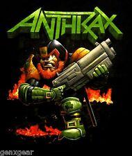 ANTHRAX cd lgo DREDD LEPRECHAUN Official SHIRT LARGE new