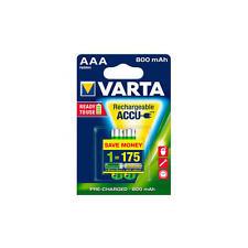2 X Batería Varta Longlife AAA 800mah 1 2v Lr03 Blister Bat.teléfono 56703 Vsrta