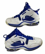 Nike Mens Shox Basketball Shoes Blue White 926288 Lace Up High Top 12.5 M