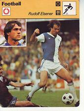 FOOTBALL carte joueur fiche photo RUDOLF ELSENER équipe GRASSHOPPERS ZURICH
