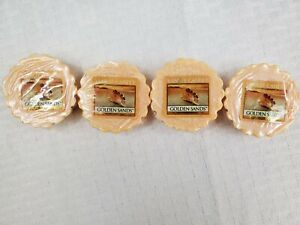 Lot of 4 Yankee Candle Tarts New Old Stock- GOLDEN SANDS- Ships free-