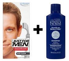 Just For Men AutoStop Mens Hair Colouring Dye Sandy Blonde + Nisim Shampoo 60ml