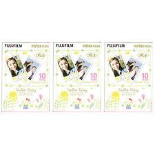 3 Packs 30 Photos Hello Kitty Fuji FujiFilm Instax Mini Film Polaroid 7S 8 SP-1