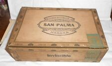 Vintage San Palma Cigar Co Wooden Wood Box Display Store Counter Ind IN 1935 NRA