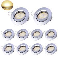 10X 5W LED Einbaustrahler Set UltraFlach Deckenleuchte Schwenkbar Lampe Warmweiß