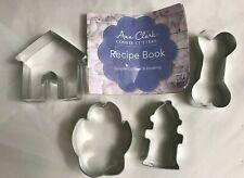 NEW Ann Clark 4 pc Tropical Cookie Cutter Set Fire Hydrant Paw Bone Dog House