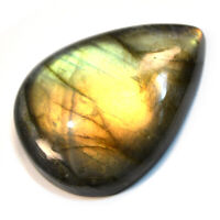 Cts. 64.30 Natural Sunrise Shade Fire Labradorite Cabochon Pear Loose Gemstone