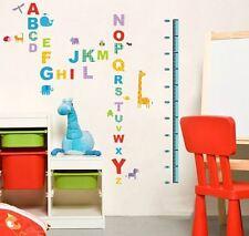 Alphabet Height Chart Measurement Wall Stickers Vinyl Decal Nursery Decor Art