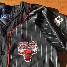 Chicago Bulls Vintage Starter 90's Pin Stripe Baseball Jersey