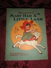 DENSLOW'S Mary Had a Little Lamb Picture Book for Children ~ 1903 ~ RARE !