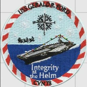 Official US Navy USS Gerald R. Ford CVN-78 Christmas Patch