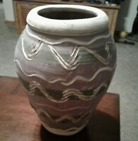 Handcrafted Pigeon Forge Pottery Tennessee Vase Planter Vessel Sgraffito Design