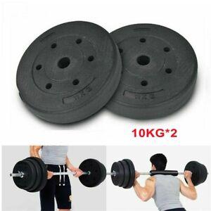 "20kg Weight Plates Set Standard 1"" Vinyl Dumbbell Barbell Lifting Training Discs"