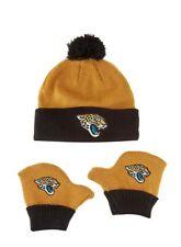 Jacksonville Jaguars NFL Infant / Toddler Cuffed Knit Pom Hat and Mittens Set