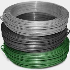 Bindedraht / Spanndraht   verzinkt anthrazit oder grün   3,1mm Stärke   3 Größen