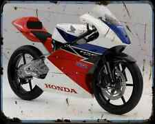 Honda Nsf250R 1 A4 Metal Sign Motorbike Vintage Aged