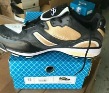 BRAND NEW BOOMBAH SZ 13 LOW  MOLDED CLEATS BLACK & TAN & WHITE SALE 26% OFF MSRP