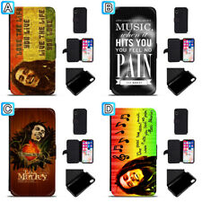 Bob Marley Leather Case For iPhone X Xs Max Xr 7 8 Plus Galaxy S9 S8