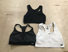 New balance AVia Hema Sports Bra Sz L - Lot of 3 White Black Gray Non Padded