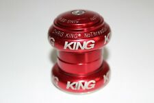 "CHRIS KING NO THREADSET HEADSET 1 1/8"" STRAIGHT STEERER MTB MOUNTAIN BIKE DH RED"