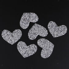 6Pcs Love Heart Rhinestone Patches Applique Sequins Shoes Clothing Accessory