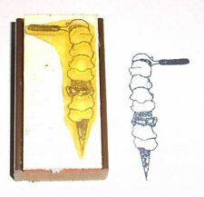 Ice Cream Cone Rubber Stamp - 7 Scoops to Heaven
