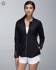 Lululemon Size 4 Running Jacket Black Reflective 'Fast & Free Jacket' EUC