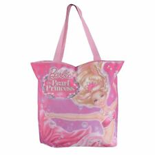 Barbie Beach Bag Pink Pearl Princess Fashion Tote Shopper Holiday Summer 36cm