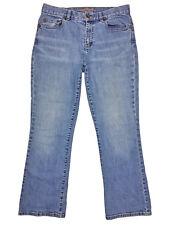 Ralph Lauren Womens Blue Medium Wash Boot Cut Stretch Denim Jeans Size 8P Petite