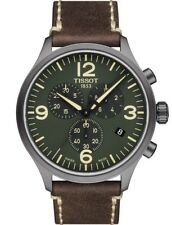 Tissot T1166173609700 Men's Chrono XL Green Dial Watch Brown 45mm Chronograph
