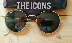 Ray Ban Round Metal Retro Sonnenbrille - Gold (RB3447 001 50-21)