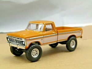 dcp/greenlight Custom lifted orange/white 1976 Ford F-150 pickup off road 1/64
