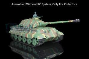 1/16 Plastic Henglong King Tiger Porsche Static Tank 3888 W/O RC System Battery
